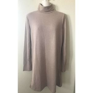 ZARA Brown Turtleneck Long Sleeve Sweater Dress